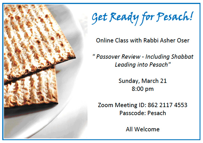 Get ready for Pesach